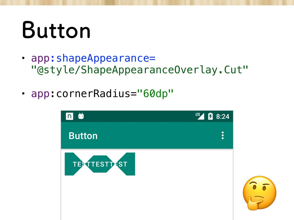"""#VUUPO • app:shapeAppearance= """"@style/ShapeApp..."""