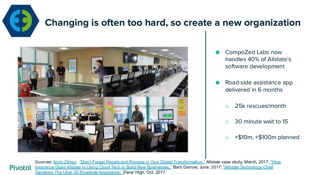 Changing is often too hard, so create a new org...
