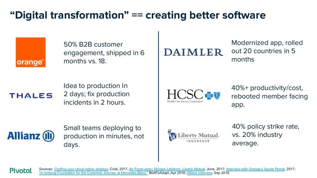 """Digital transformation"" == creating better sof..."