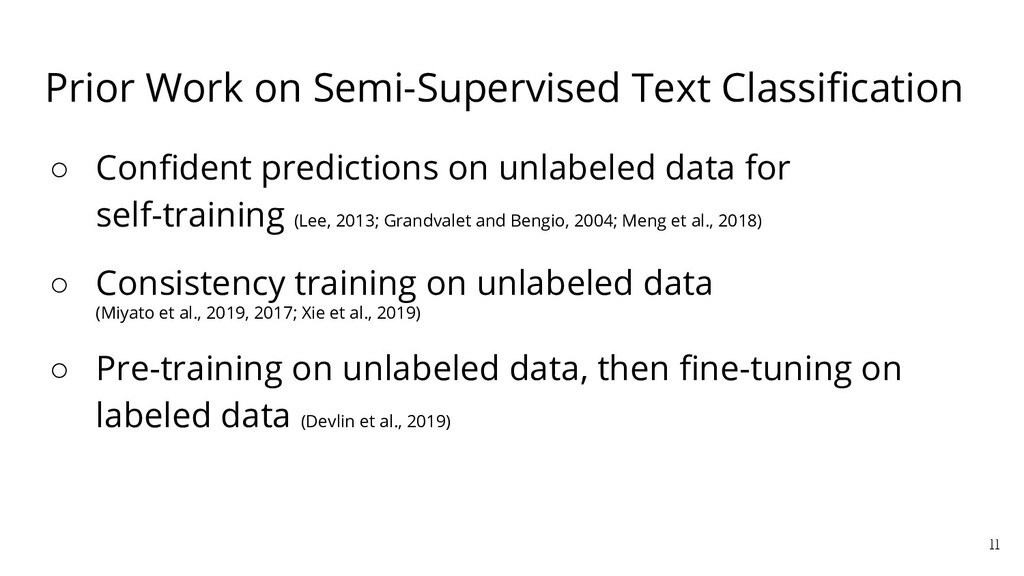 Prior Work on Semi-Supervised Text Classificatio...
