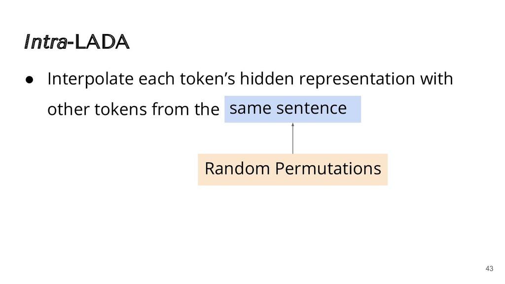 Intra-LADA ● Interpolate each token's hidden re...