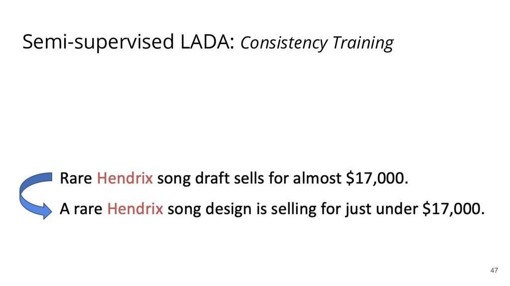 Semi-supervised LADA: Consistency Training 47