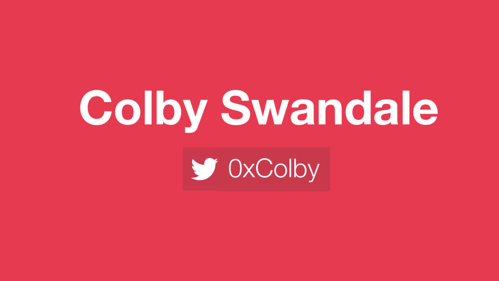 Colby Swandale 0xColby
