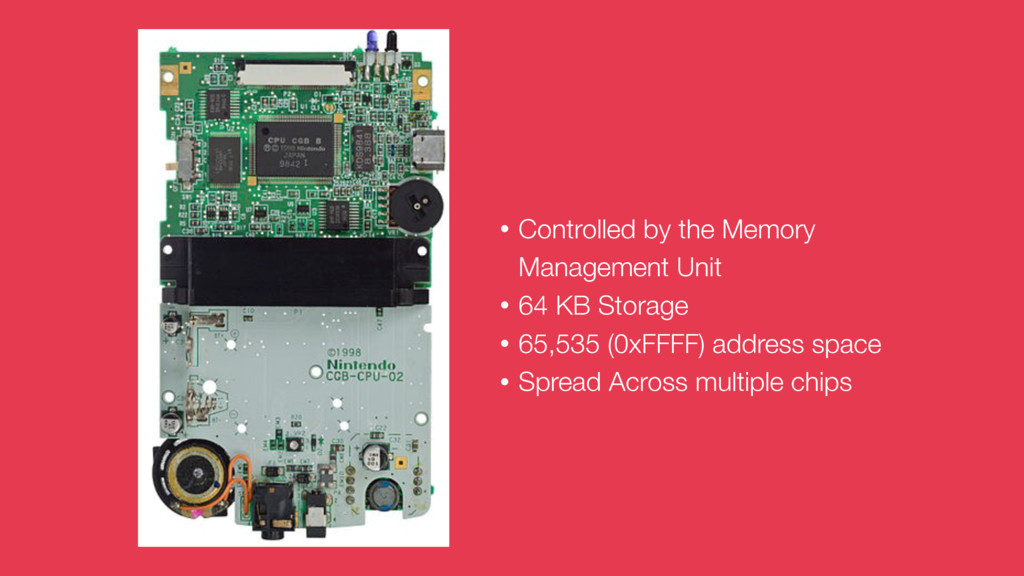 • Controlled by the Memory Management Unit • 64...