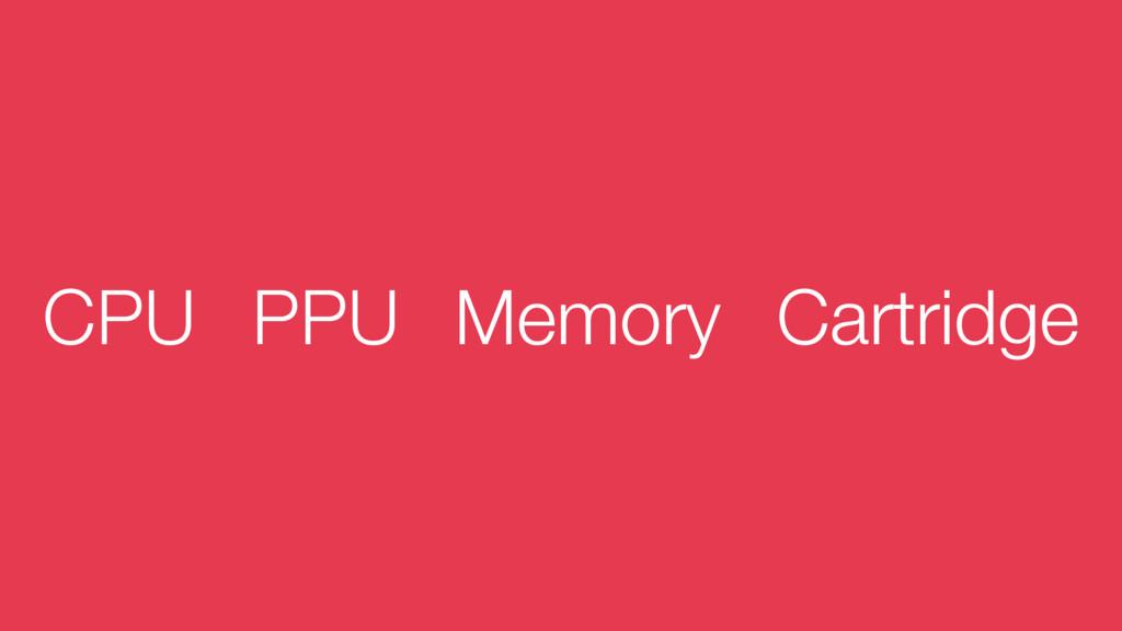 CPU PPU Memory Cartridge
