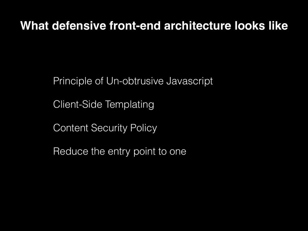 Principle of Un-obtrusive Javascript Client-Sid...