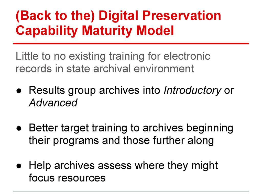 (Back to the) Digital Preservation Capability M...