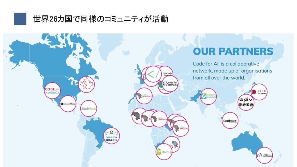 6 世界26カ国で同様のコミュニティが活動