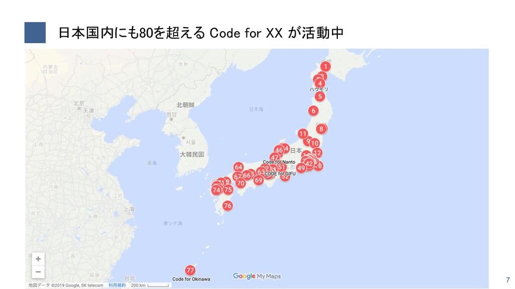 日本国内にも80を超える Code for XX が活動中 7