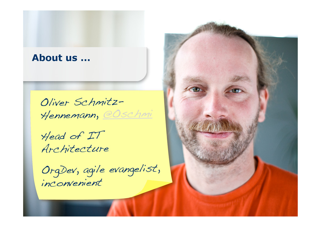 About us ... Oliver Schmitz- Hennemann, @Oschmi...