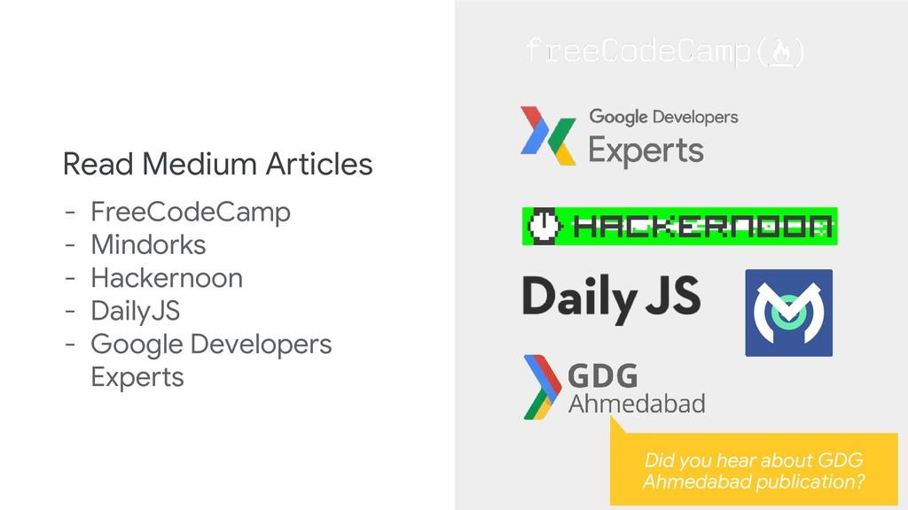Read Medium Articles - FreeCodeCamp - Mindorks ...