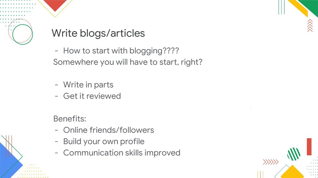 Write blogs/articles - How to start with bloggi...