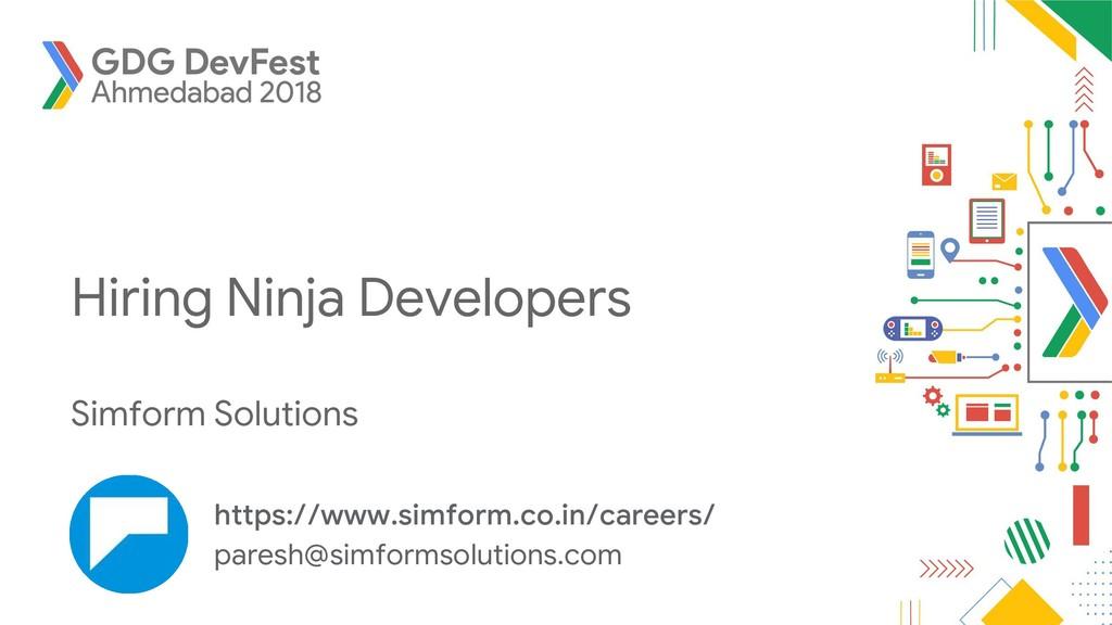 Hiring Ninja Developers Simform Solutions https...