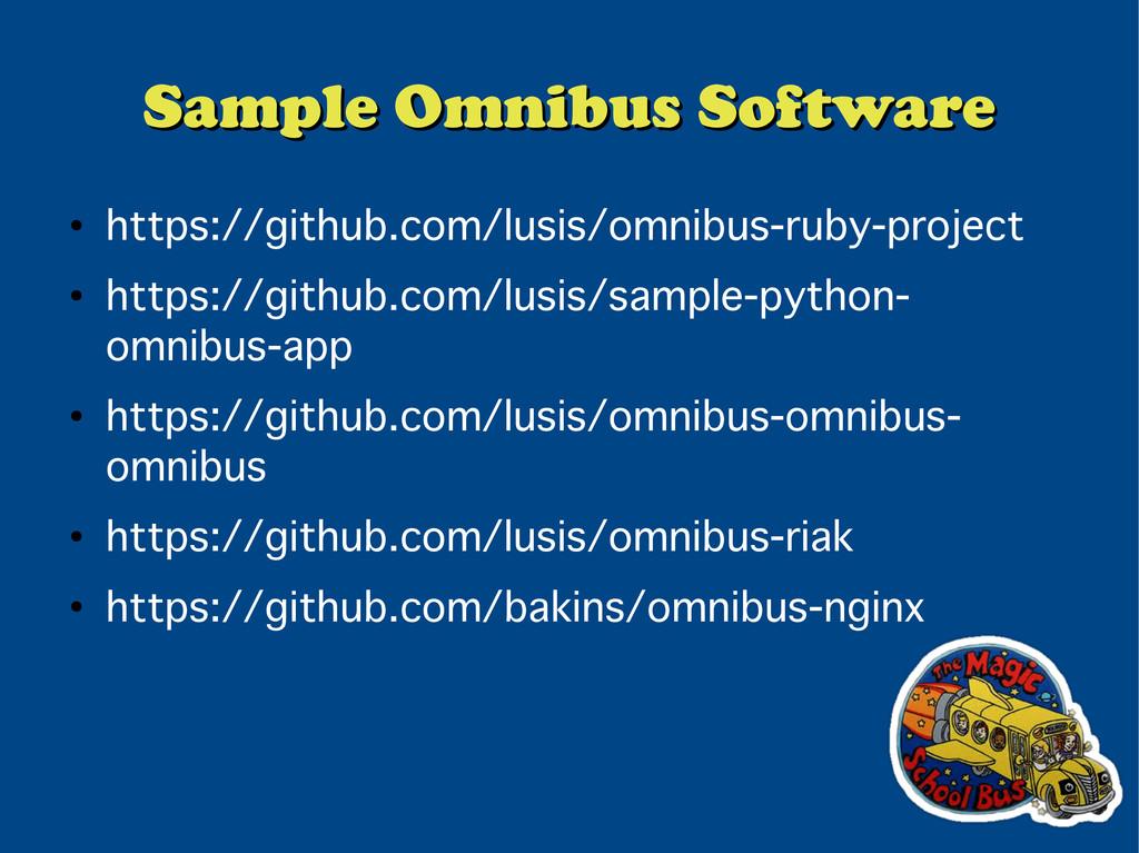 Sample Omnibus Software Sample Omnibus Software...