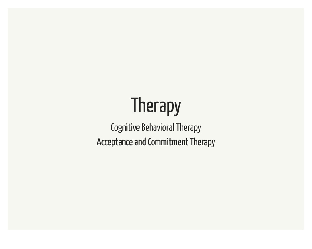 Therapy Cognitive Behavioral Therapy Acceptance...