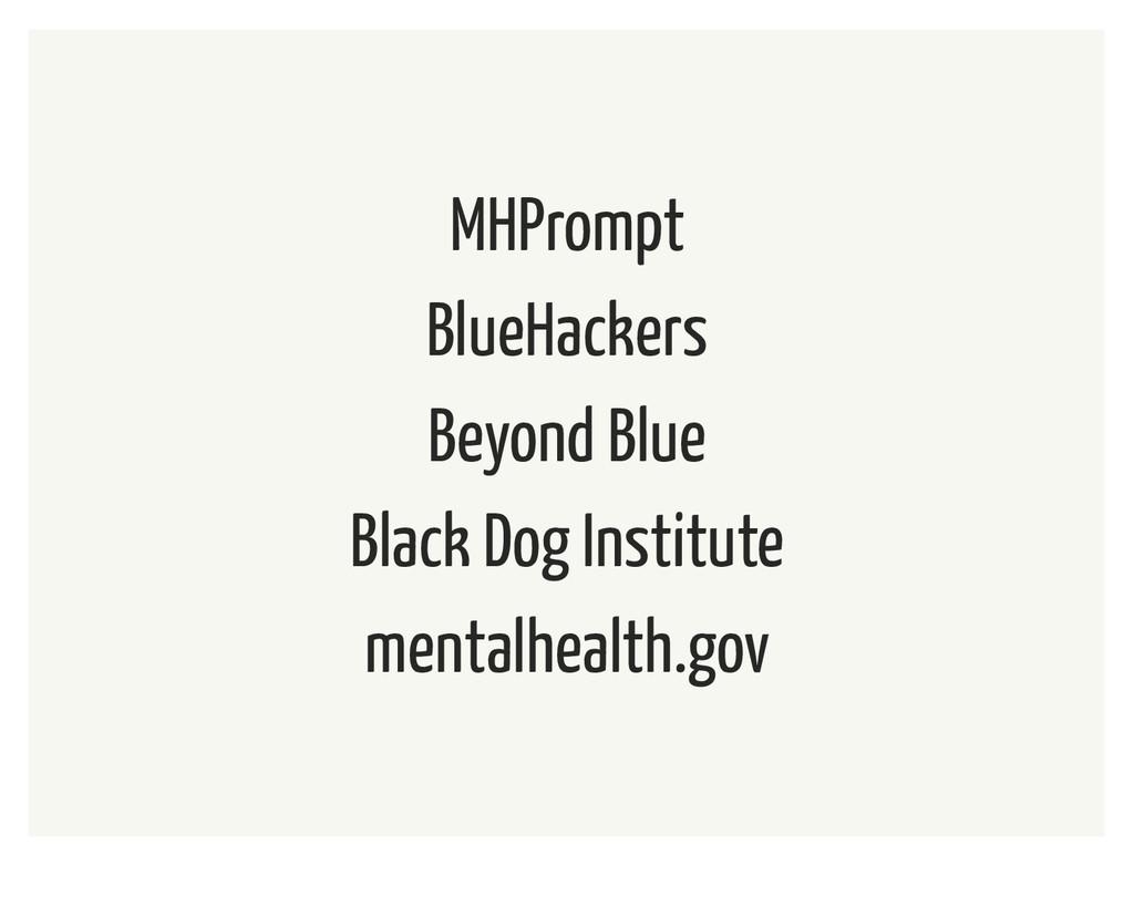 MHPrompt BlueHackers Beyond Blue Black Dog Inst...