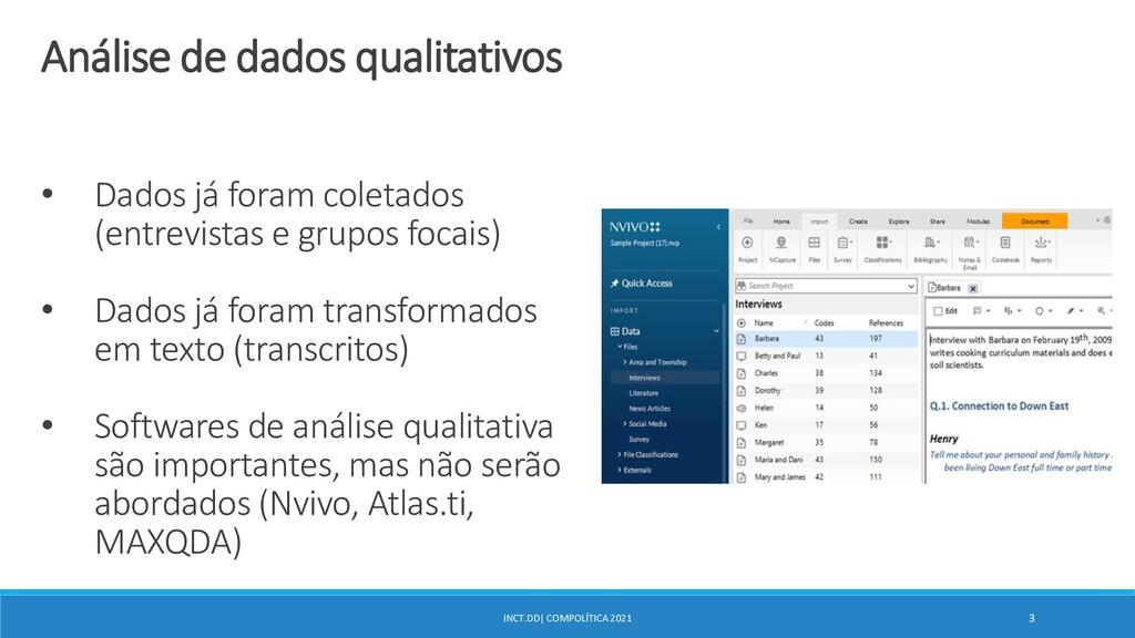 INCT.DD| COMPOLÍTICA 2021 3 Análise de dados qu...