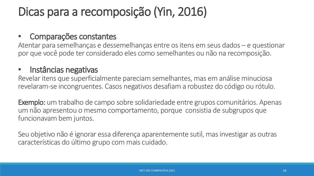 INCT.DD| COMPOLÍTICA 2021 34 Dicas para a recom...