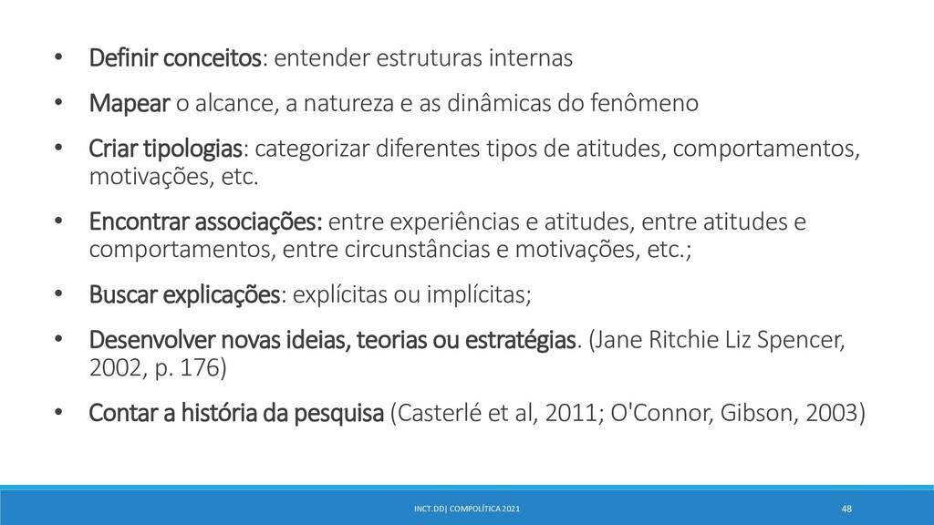 INCT.DD| COMPOLÍTICA 2021 48 • Definir conceito...