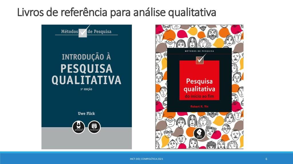 INCT.DD| COMPOLÍTICA 2021 6 Livros de referênci...