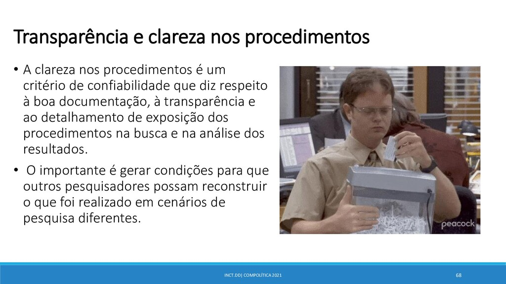 INCT.DD| COMPOLÍTICA 2021 68 Transparência e cl...