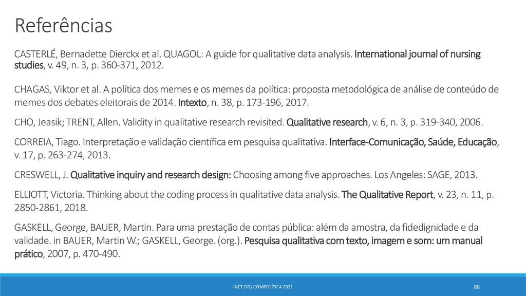 INCT.DD| COMPOLÍTICA 2021 88 Referências CASTER...