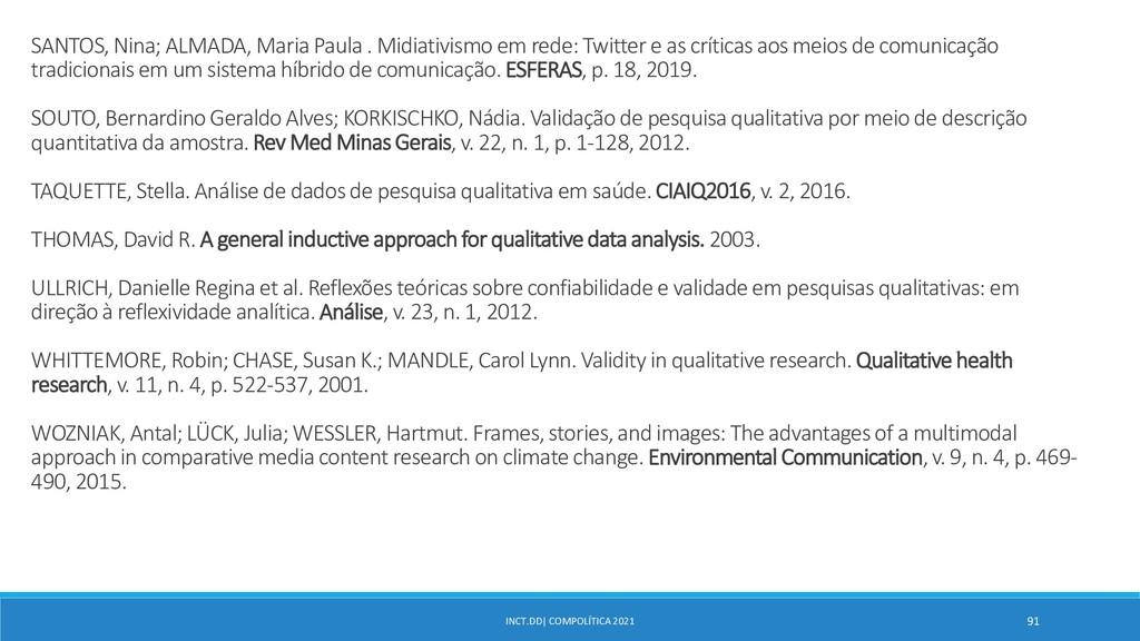 INCT.DD| COMPOLÍTICA 2021 91 SANTOS, Nina; ALMA...