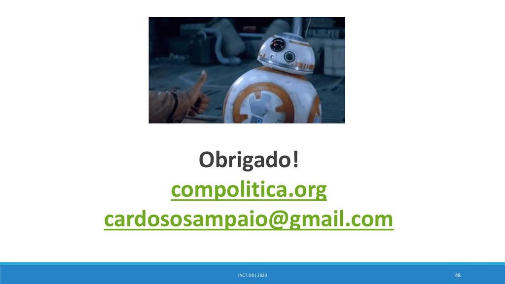 INCT.DD| 2020 48 Obrigado! compolitica.org card...