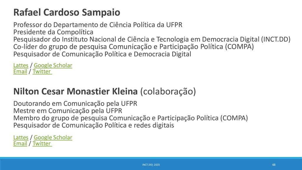 Rafael Cardoso Sampaio Professor do Departament...