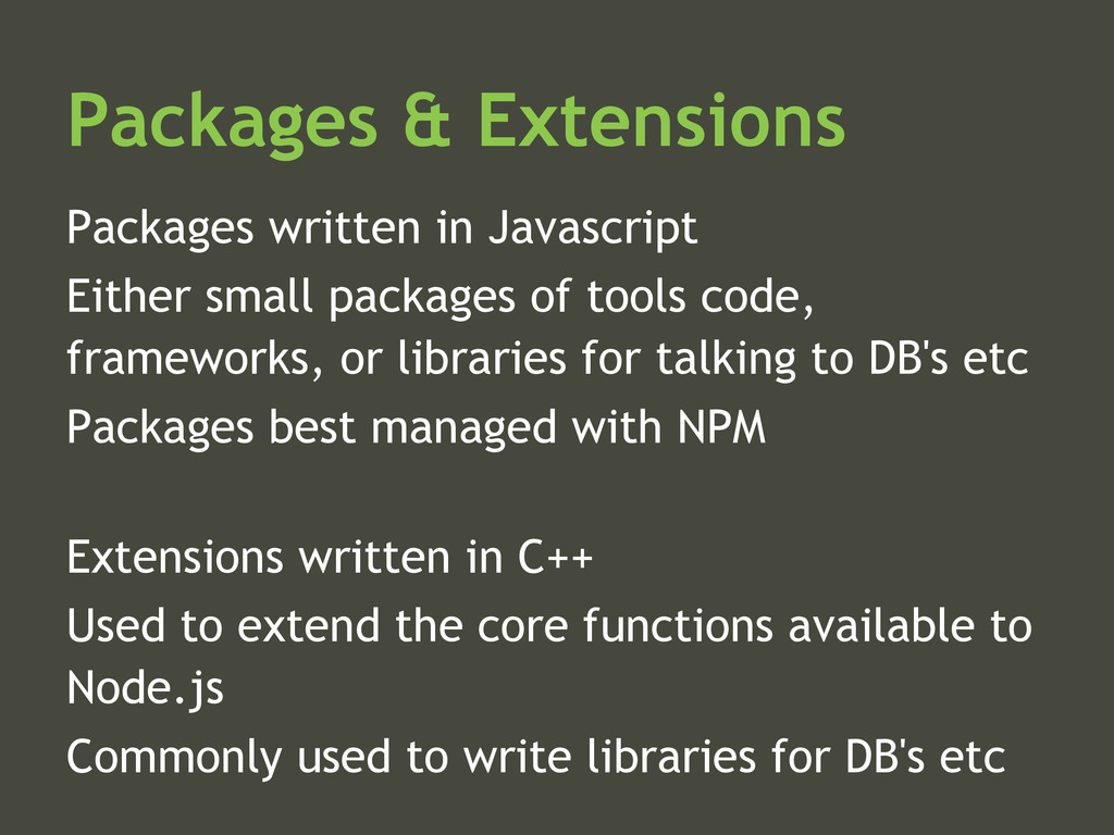 Packages & Extensions Packages written in Javas...