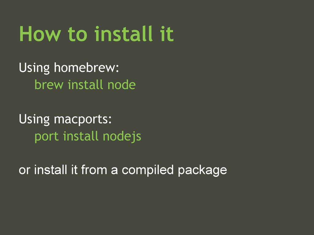 How to install it Using homebrew: brew install ...