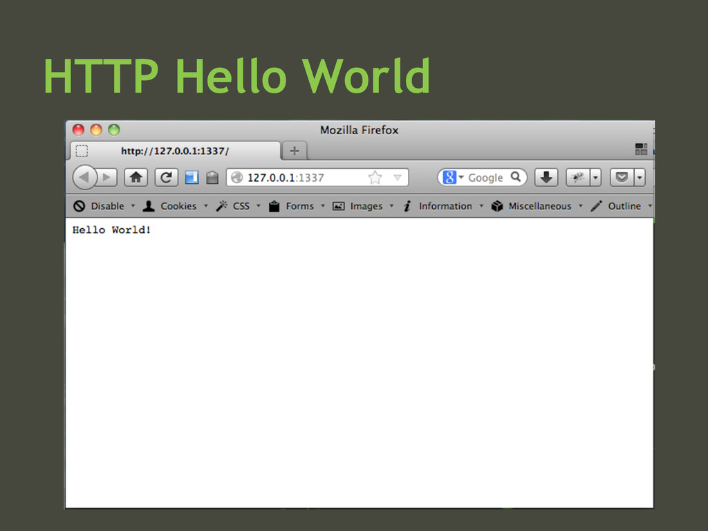 HTTP Hello World