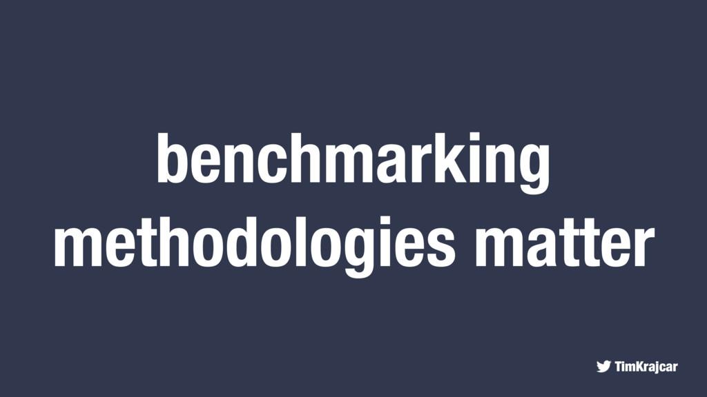 TimKrajcar benchmarking methodologies matter