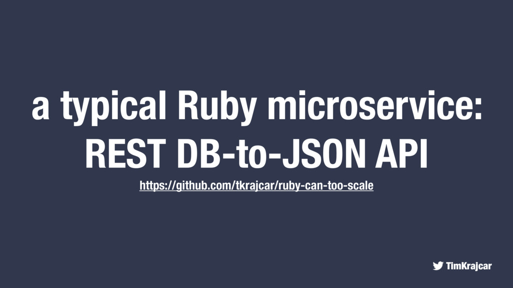 TimKrajcar a typical Ruby microservice: REST DB...