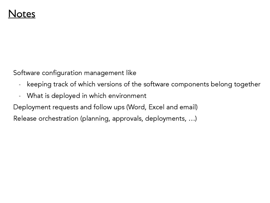Software configuration management like - keepin...