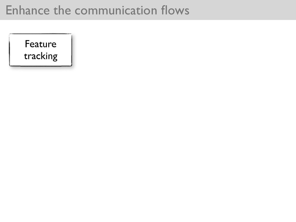 Enhance the communication flows Feature tracking