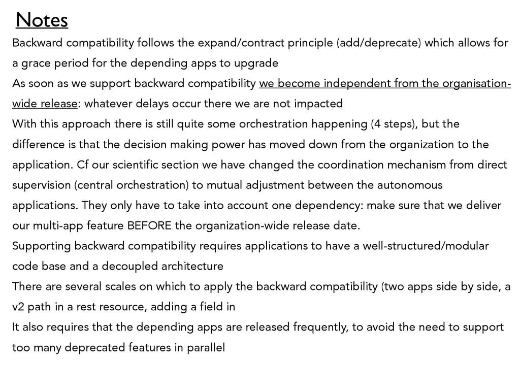 Backward compatibility follows the expand/contr...