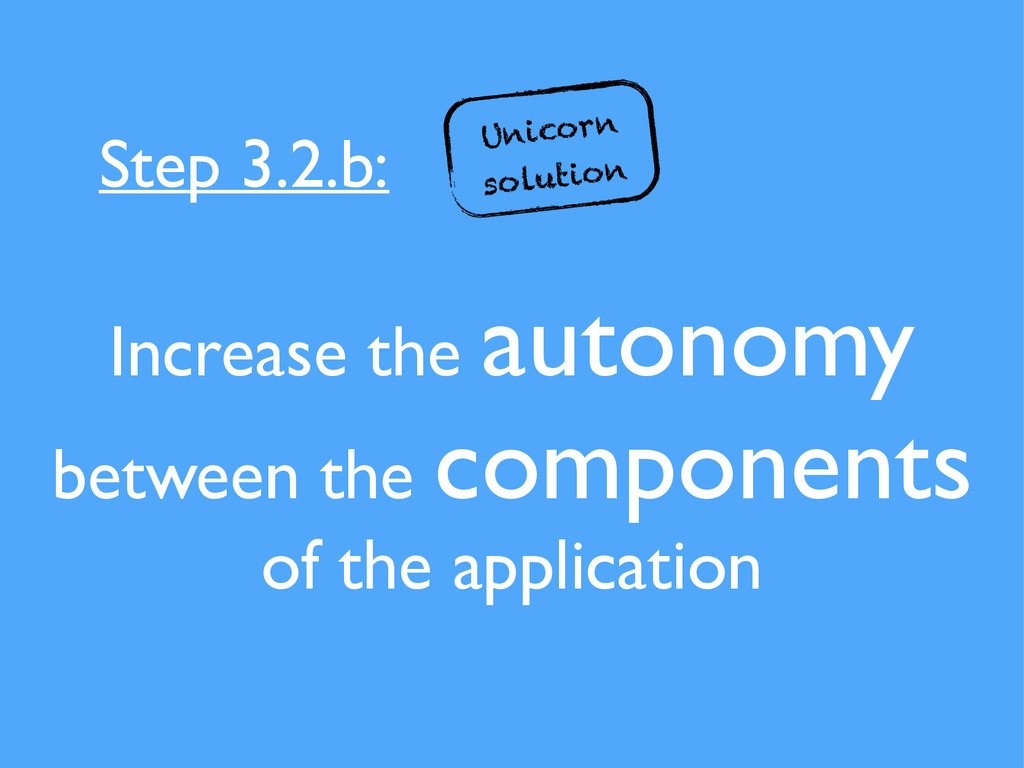 Increase the autonomy between the components of...
