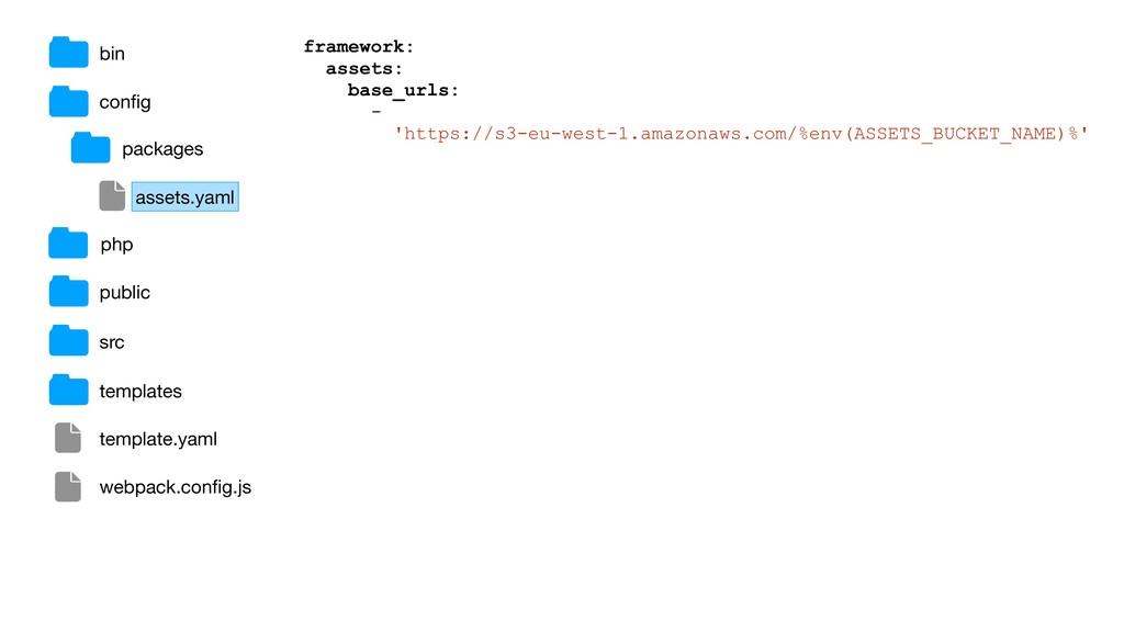 bin config framework: assets: base_urls: - 'http...