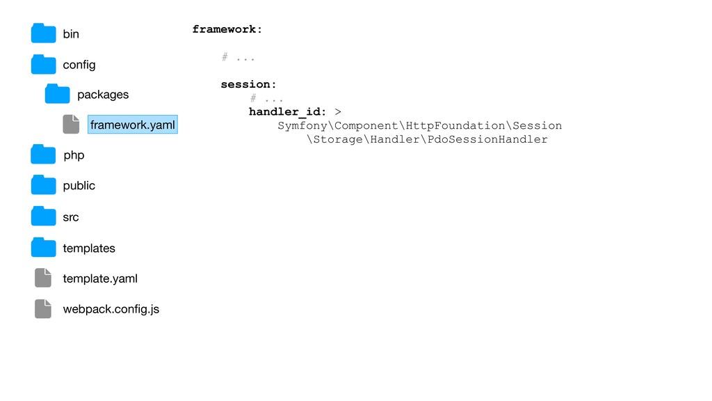 bin config framework: # ... session: # ... handl...