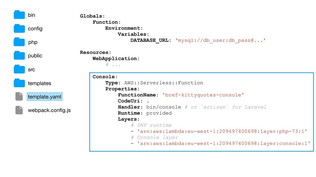 Globals: Function: Environment: Variables: DATA...
