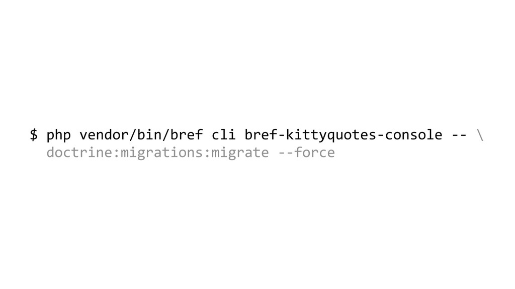 $ php vendor/bin/bref cli bref-kittyquotes-cons...