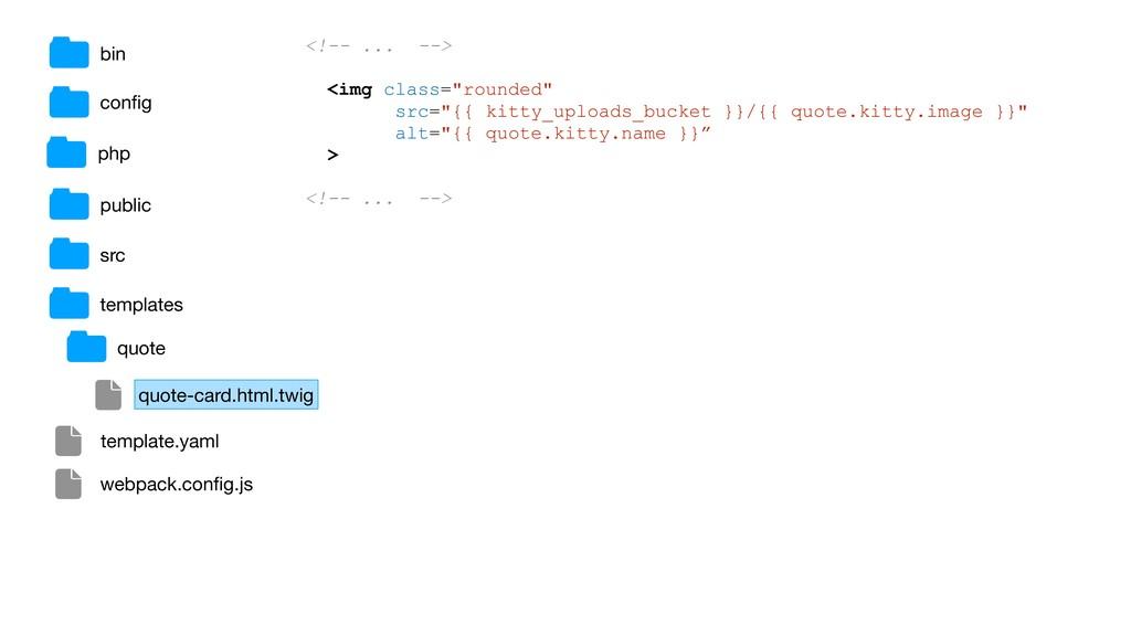 bin public src templates config <!-- ... --> <im...