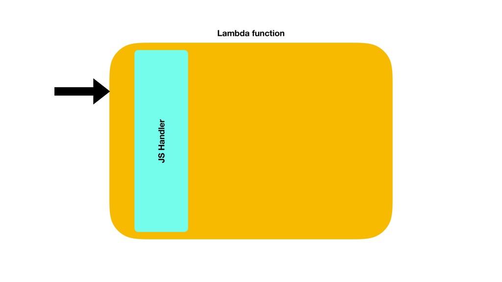 Lambda function JS Handler