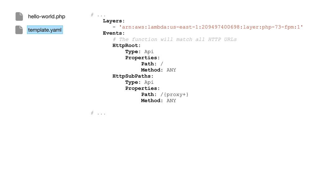 # ... Layers: - 'arn:aws:lambda:us-east-1:20949...