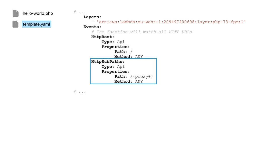 # ... Layers: - 'arn:aws:lambda:eu-west-1:20949...