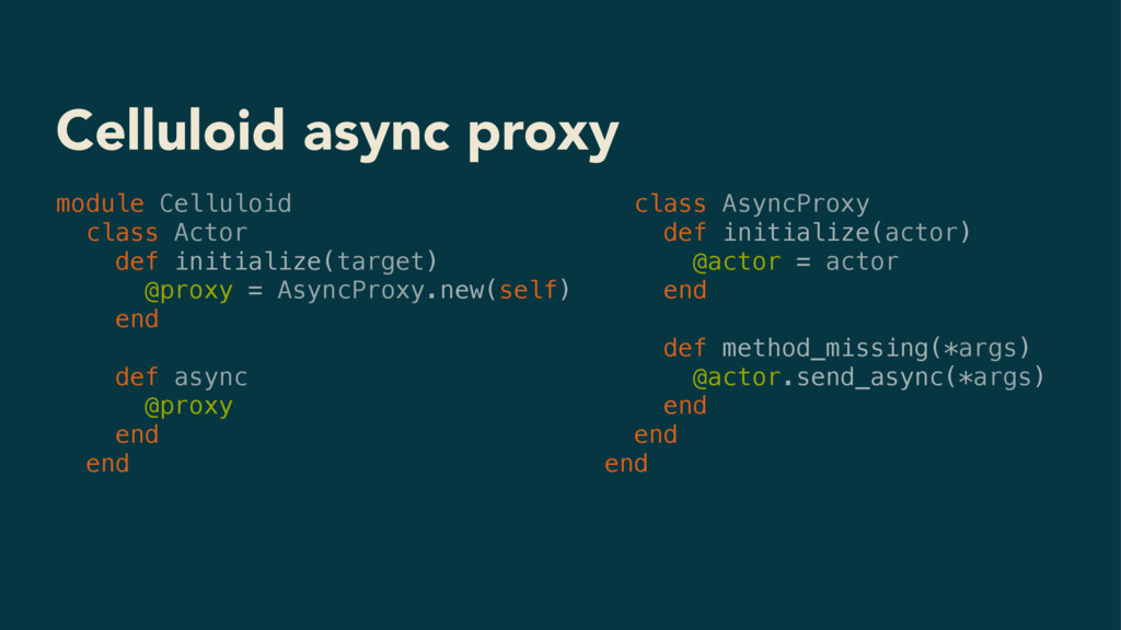 Celluloid async proxy module Celluloid class Ac...
