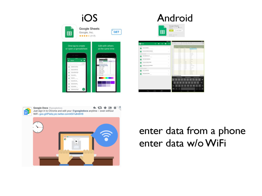 iOS Android enter data from a phone enter data ...