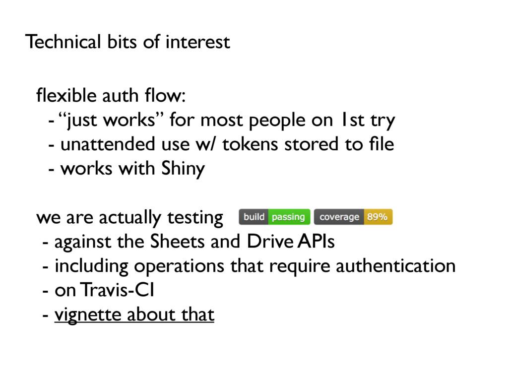 Technical bits of interest flexible auth flow: - ...