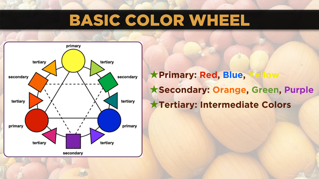 BASIC COLOR WHEEL ★Primary: Red, Blue, Yellow ★...
